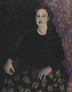 Jeune Femme assise, Brigitte Moreau Serre