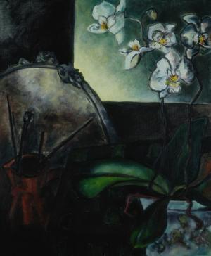 Brigitte Moreau Serre, Nature morte aux orchidées