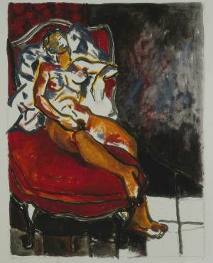 Nu féminin assis, Brigitte Moreau Serre