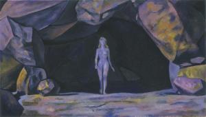 Sortie de la grotte, Brigitte Moreau Serre